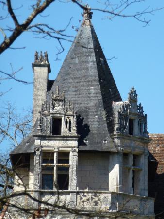 Chateau de Puyguilhem: Tour du chateau et sa cheminée