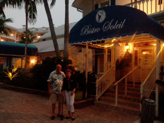 Bistro Soleil at the Olde Marco Inn : outside of bistro soleil