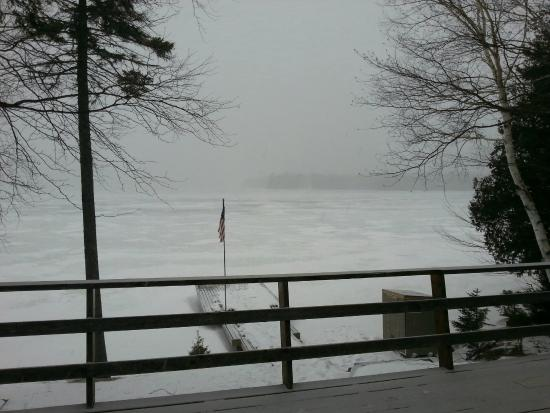 Cozy Moose on Moosehead Lake: overlooking lake during storm