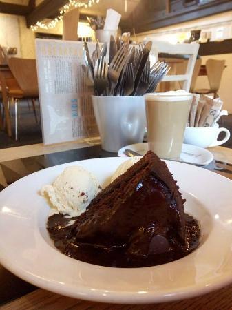 The Whale Tail: Vegan choc fudge cake with vegan vanilla ice cream