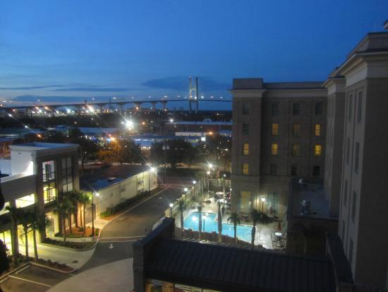 Embassy Suites by Hilton Savannah: Great View of the Bridge