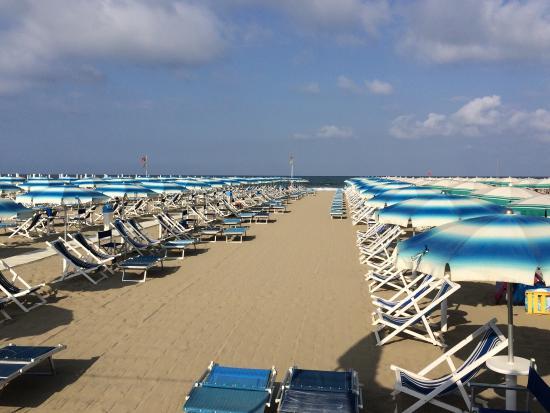 Spiaggia foto di bagno perla del tirreno viareggio tripadvisor - Bagno roma viareggio ...