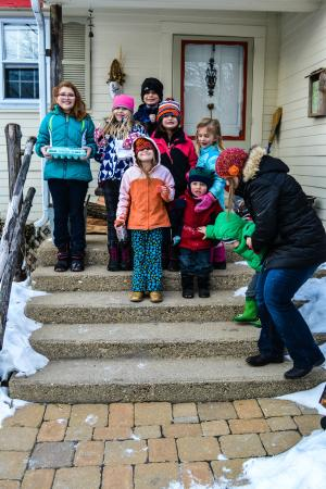 Cooksville Farmhouse Inn: all the kiddos in our group