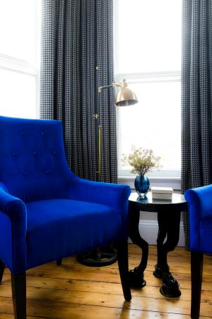 Vibrant Blue Chairs And Gilded Age Accents Decorate Every Room At Our Newport Ri Hotel