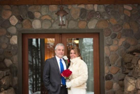 The Fern Lodge: Bob and Kathy outside the front door