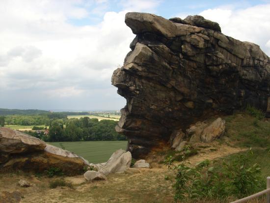 Teufelsmauer: Felsen obere Weg