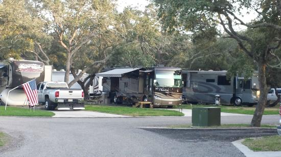 Rockport, TX: Campground has lovely paved streets with curbs