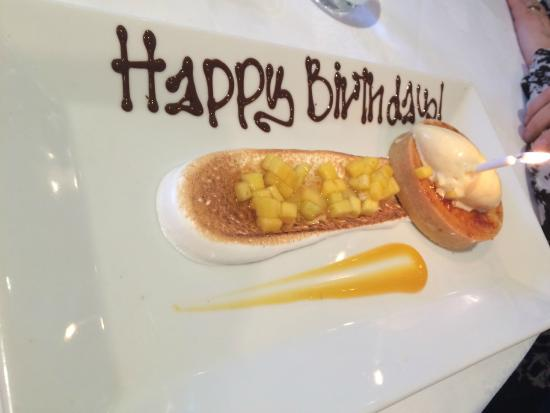Birthday pud picture of the french table surbiton for The french table 85 maple road surbiton surrey kt6 4aw