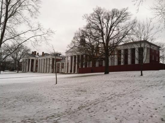 Washington and Lee University: Lawn in the snow