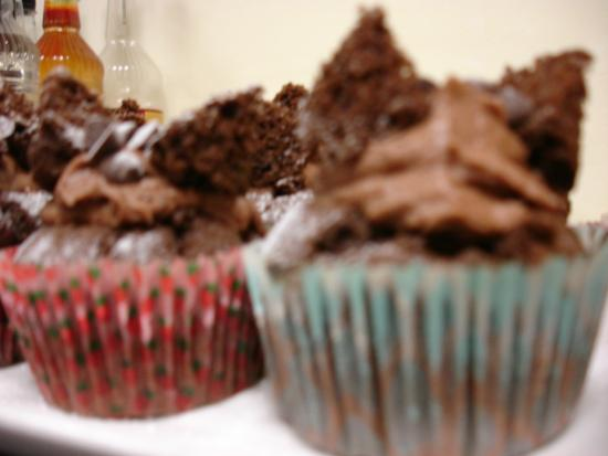 Food 4 Thought: Basil and Chocolate Butterfly cakes (fresh basil in sponge)