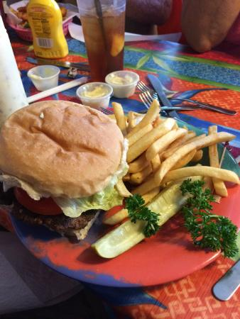 cafe 776: Now this is a 776 hamburger. Can you eat it all?