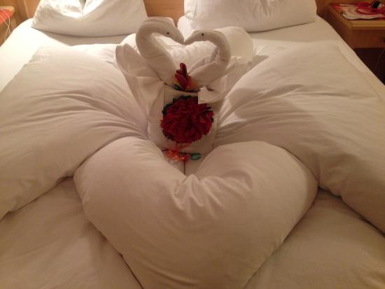 Hotel Alpina: room service made animals with the towels