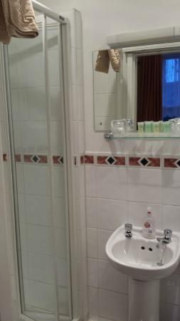 Dumfries Villa: Room 5 (Tiny Bathroom Sink & Shower Cabinet)