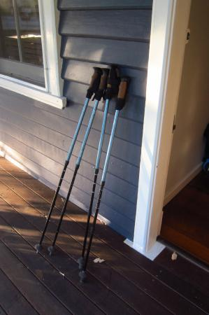 Caves House Hotel Yallingup: Our walking poles resting