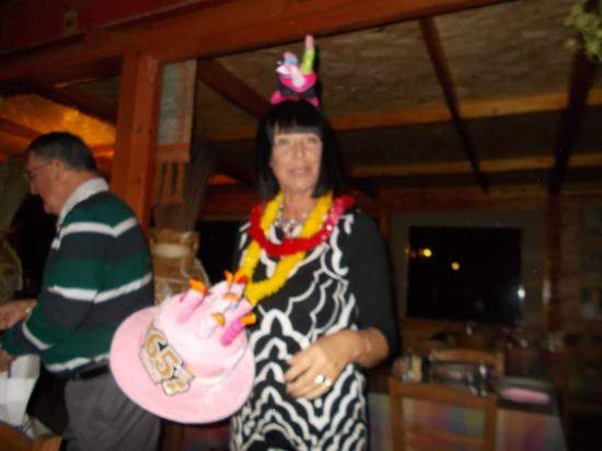 Costa's Koloni Tavern: made to wear silly hats