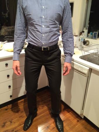 Wall Street Tailors : Crotch too high
