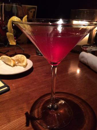 J Alexander's Restaurant: Pomegranate Martini! Light and Crisp!