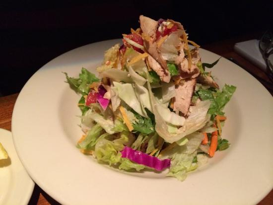 J Alexander's Restaurant: The grilled chicken salad was fresh and served with a very light and tangy champagne vinaigrette