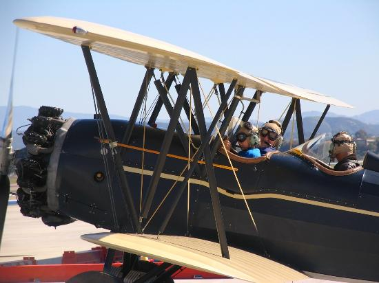 Fun Flights Biplane Rides: Waiting for takeoff