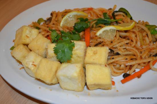 Hibachi Udon with tofu