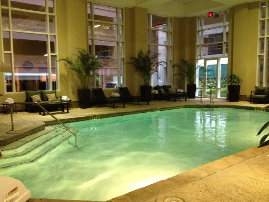 Jesse H. Jones Rotary House International: Pool Area with Hot tub and handicap DME