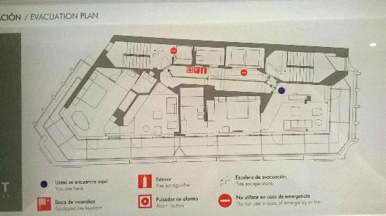 Hotel Inffinit Vigo: Plano de la planta 7. El punto azul es Suite 701
