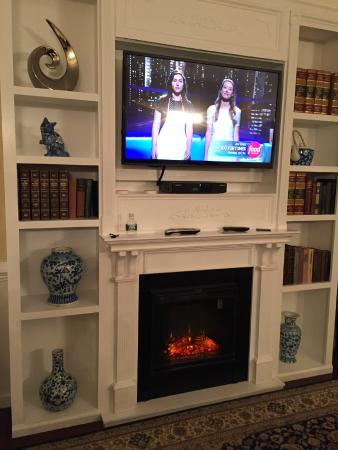 Electric Fireplace And Flat Screen Tv Picture Of The Litchfield