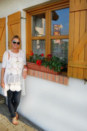 Rigotanya Restaurant and Guesthouse Bukfurdo: In the front of the MUSKATLI window!