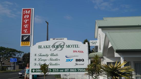 Blake Court Motel: Naam bord