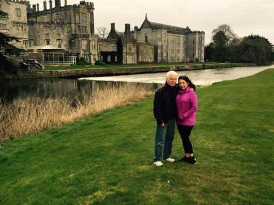 Adare Manor: My husband and me at Adare in 2015