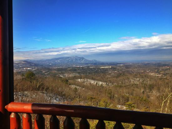 View From Balcony Overlooking Pigeon Forge, TN