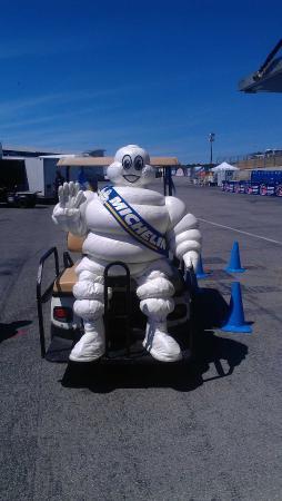 The Michelin man @ Mazda Raceway Laguna Seca