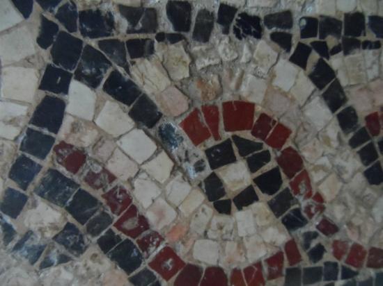 Nationalmuseum von Bardo (Musée national du Bardo): mosaico da vicino