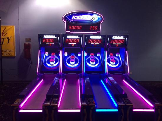 Warner Robins, GA: The awesome Iceball machines in our arcade!