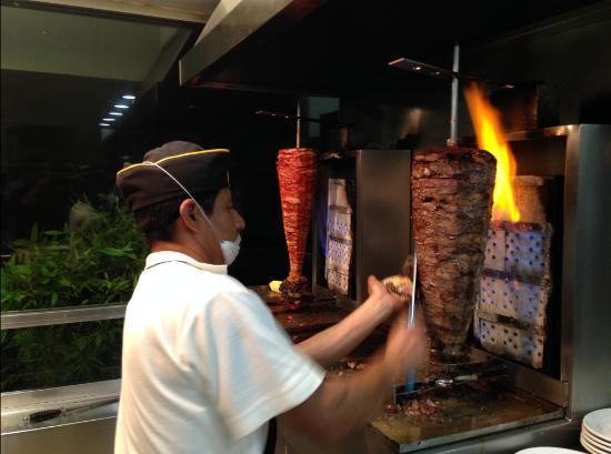 Tacos el Pata: Rotisserie sirloin & pork!