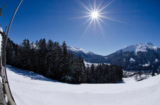 Berghaus Alpenrösli: Sonne pur