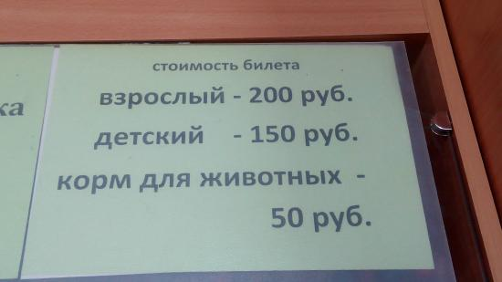 Тула, Россия: Стоимость билетов