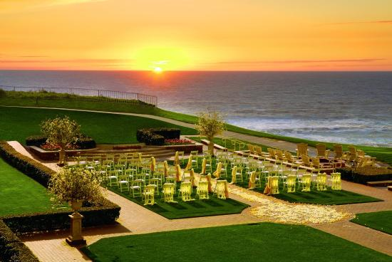 The Ritz-Carlton, Half Moon Bay: Ocean Lawn set for Wedding