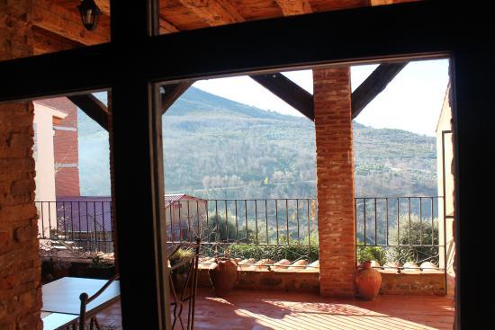 Casa Rural Amanecer: Vistas terraza Bar