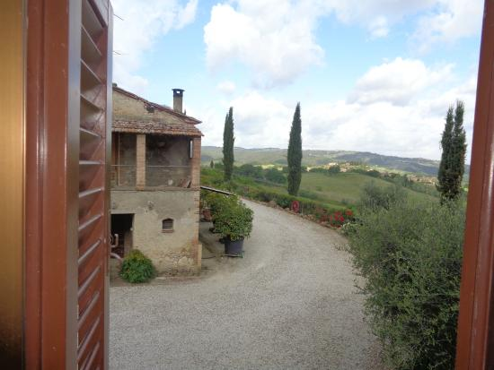 Agriturismo La Piazzetta: Vista do campo através da janela da Suíte