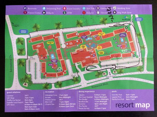 Doubletree by Hilton Orlando at SeaWorld: Resort Map
