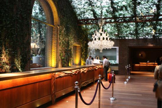 hotel reception desk picture of hudson hotel new york. Black Bedroom Furniture Sets. Home Design Ideas