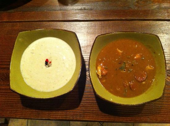 She Crab Soup and Chicken Gumbo - Picture of Luella\'s Southern ...