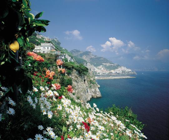 Santa Caterina Hotel: View From The Lemon Gardens