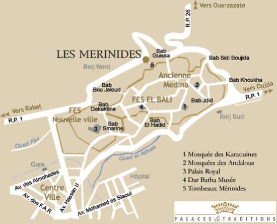 Les Merinides: Map