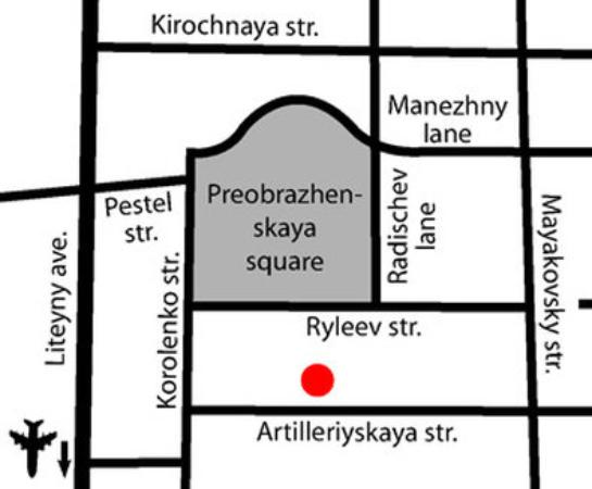 Arbat Nord Hotel: Map