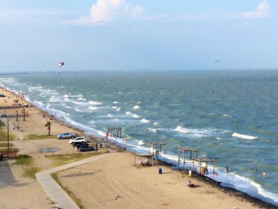 Radisson Hotel Corpus Christi Beach Windy Day