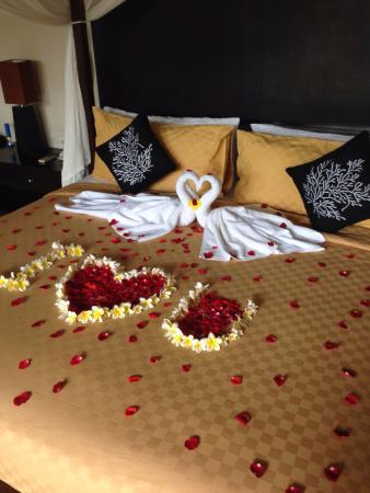 Elegant Imani Villas: The Honeymoon Bed Decoration