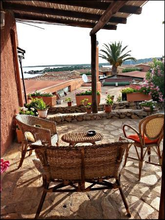 Residence Marineledda & Vela Blu: Terraza de mi habitación