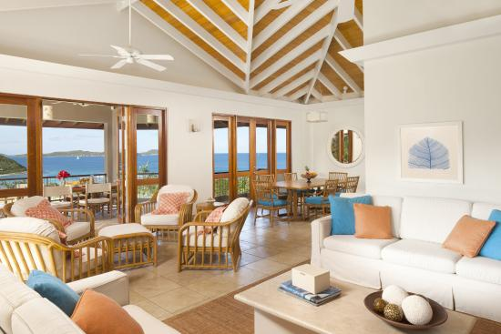 Rosewood Little Dix Bay: Villa Living Room